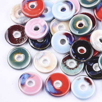 Abalorios de porcelana hechas a manoPORC-S498-54-1