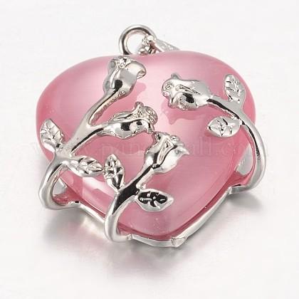 彼女の贈り物猫の眼のペンダントのバレンタインのアイデアCE-H006-01-1
