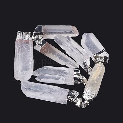 Naturales de cuarzo cristales pendientes puntiagudosG-S299-42-1