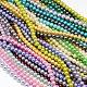 Perlas redondas de perlas de vidrio teñido ambientalHY-A002-6mm-M