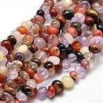 Mixed Natural Gemstone Nuggets Bead Strands, Dyed, 6~10x9~12x8~10mm, Hole: 1mm; about 15.3