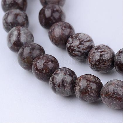 Granos de obsidiana de copos de nieve naturales hebrasG-Q462-6mm-37-1