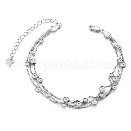 SHEGRACE® 925 Sterling Silver Multi-strand BraceletsJB495A-1
