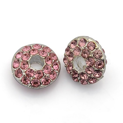 Silver Color Plated Alloy Rhinestone BeadsRB-J307-27S-1