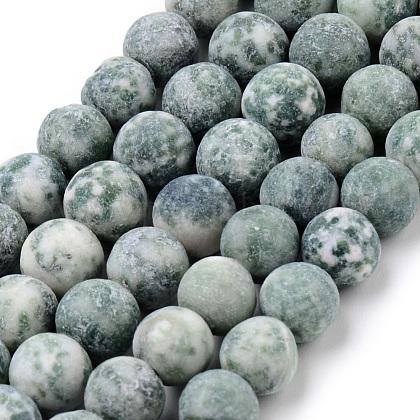 Естественно Цинхай нефрита раунд из бисера прядиG-Q462-74-10mm-1