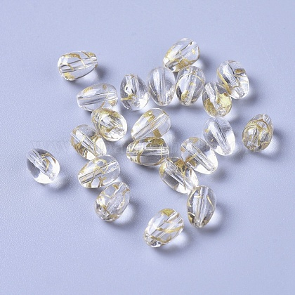 Drawbench Transparent Glass BeadsGLAA-L023-A-08-1
