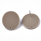 Fornituras de pendiente de botón de acetato de celulosa (resina)KY-R022-013-3