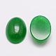 Óvalo cabuchones de jade natural de malasiaG-K020-25x18mm-11-2