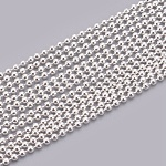 Iron Ball Bead Chains, Soldered, Silver Color Plated, 1.5mm