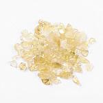 Натуральный цитрин бисер, нет отверстий / незавершенного, чипсы, 5~19x2~5 мм; о 50 г / мешок