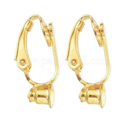 Brass Clip-on Earring Converters FindingsX-KK-Q115-G-1