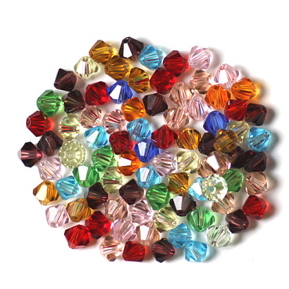 Abalorios de cristal austriaco de imitaciónSWAR-F022-4x4mm-M-1