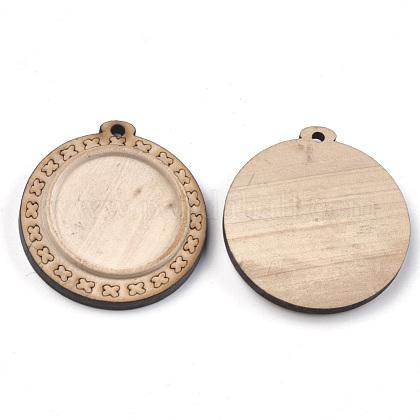 Wooden Pendant Cabochon SettingsWOOD-S044-16C-1