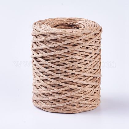 Handmade Iron Wire Paper RattanOCOR-WH0017-02-1