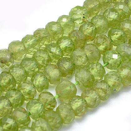 Natural Peridot Beads StrandsG-O172-02-1