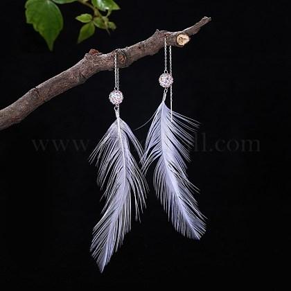 Sterling Silver EarringsEJEW-BB34114-1