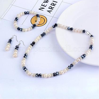 Sistemas de la joya de perlas: collares de abaloriosSJEW-Q030-01-1