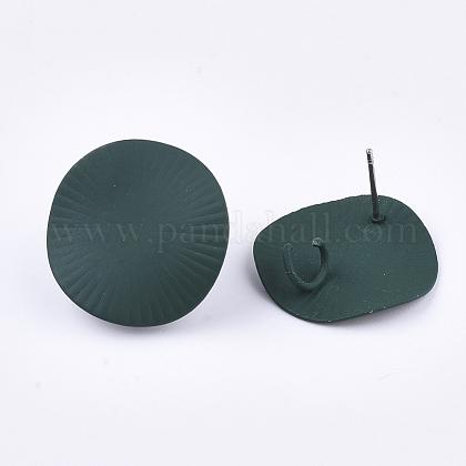Fornituras de aretes de hierro pintado en aerosolIFIN-S703-13B-1