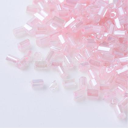 Dos cuentas de semillas de vidrio transparenteSEED-Q022-2221-1