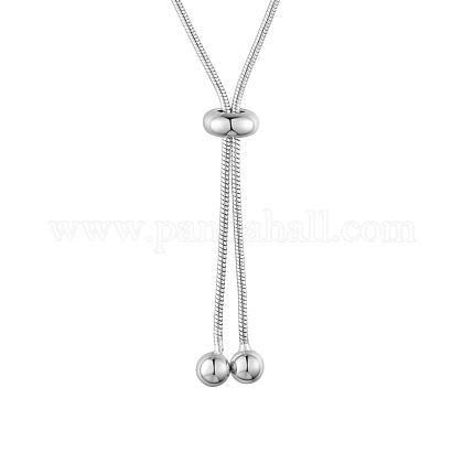 SHEGRACE® 925 Sterling Silver Snake Chain NecklacesJN829A-1