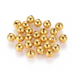 Brass Beads, Seamless Round Beads, Golden, Size: about 8mm in diameter, hole: 2mm