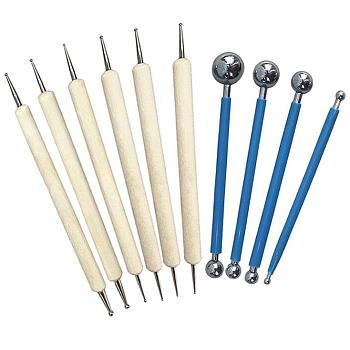 Professional DIY Stainless Steel Polymer Clay Tools, Stainless Steel Color, 12.5~13.3cmx6~8mm; 10pcs/set