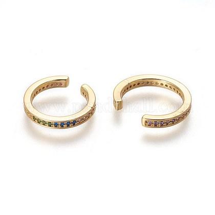 Cubic Zirconia Cuff EarringsEJEW-P180-02G-1