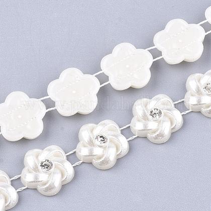 ABS Plastic Imitation Pearl Beaded Trim Garland StrandAJEW-S073-19-1