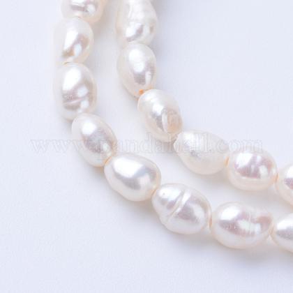 Hebras de perlas de agua dulce cultivadas naturalesPEAR-S010-04-1