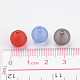10mm Mixed Transparent Round Frosted Acrylic Ball BeadsX-FACR-R021-10mm-M-4