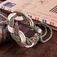 Trenzadas ajustables pulseras cordón de cuero unisexBJEW-BB15532-7