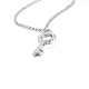 TINYSAND® Sterling Silver Key Rhinestone Pendant NecklacesTS-N166-S-18-2