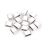 Tibetan Style Slide Charms, Lead Free & Nickel Free, Rectangle, Antique Silver, 8x13x5mm, Hole: 10x3mm