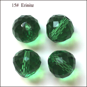 Green Imitation Austrian Crystal Beads, Grade AAA, Faceted, Teardrop, Green, 6mm, Hole: 0.7~0.9mm