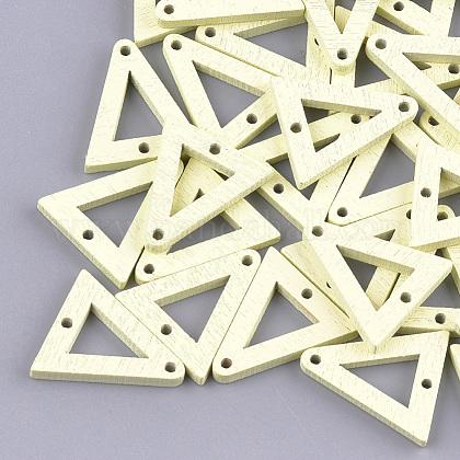Enlaces de madera de álamo pintadosWOOD-S045-071A-1