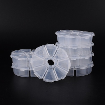 Contenedores de abalorios de plásticoC008Y-1