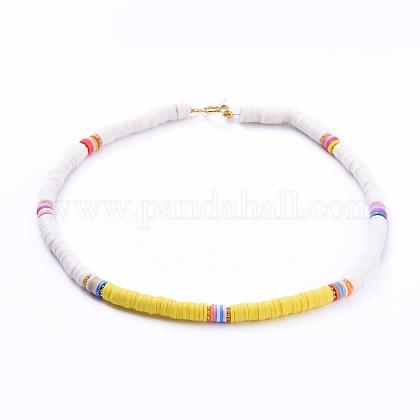Collares hechos a mano de arcilla poliméricaNJEW-JN02723-01-1