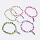 Pulseras de estiramiento de cristal de ábaco facetasBJEW-JB03620-1