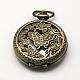 Aleación de zinc cabezas huecas reloj de cuarzo de la vendimia para el reloj de bolsillo el collar del colganteWACH-R005-27-1