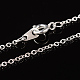 Nickel Free Silver Color Plated Brass Chain NecklacesX-SW028-S-3