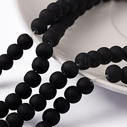Chapelets de perles en verre transparentGLAA-S031-6mm-38-1
