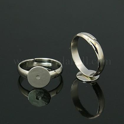 Fornituras base de anillo almohadilla de latónEC022-1