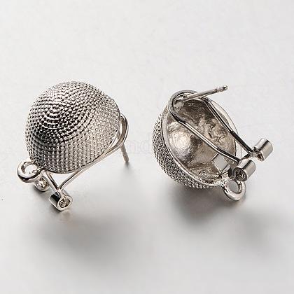 Alloy Stud Earring FindingsPALLOY-A061-04P-1
