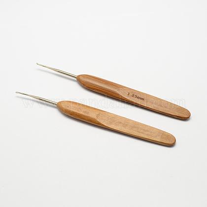 竹ハンドル鉄かぎ針編みのフック針X-TOOL-R034-1.25mm-1