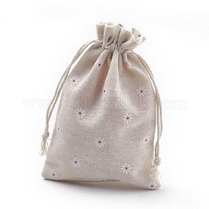 Polycotton(Polyester Cotton) Packing Pouches Drawstring BagsABAG-S003-03B-1