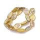 Brins de perles de coquille d'eau douce de couleur abSHEL-T009-04D-2
