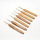 竹のハンドル鉄かぎ針編みのフック針TOOL-R034-M-1