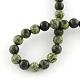 Piedra natural serpenteante / encaje verde cuentas redondas cuentasX-G-E334-6mm-14-5