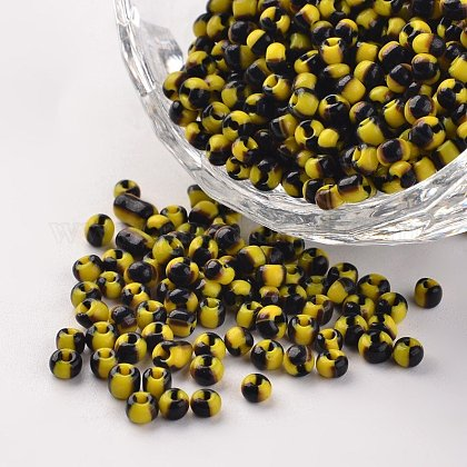 8/0 Opaque Colours Seep Glass BeadsSEED-M007-27-1