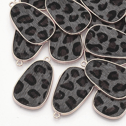 Environmental Cowhide Leather Pendants FIND-N049-03B-1